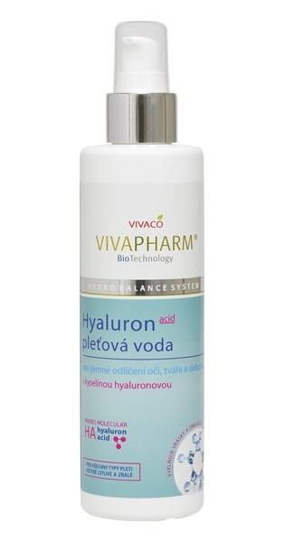 Vivaco Pleťová voda s kyselinou hyaluronovou VIVAPHARM 200 ml