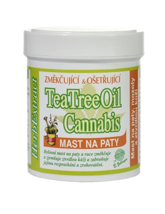 Vivaco Herb extrakt Bylinná mast na paty s Tee Tree Oil HERB EXTRACT 125 ml
