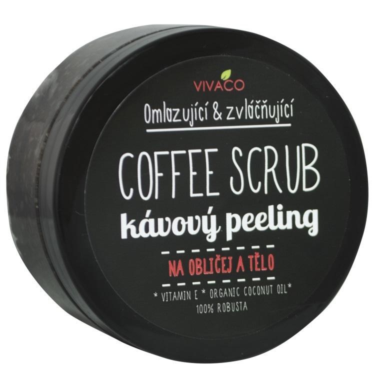 Vivaco Coffee scrub Pleťový a tělový kávový peeling 100 g