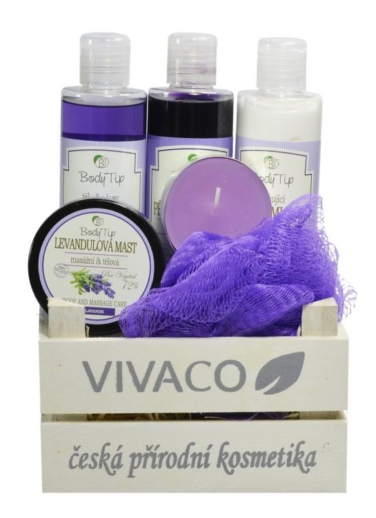 Vivaco Dárkové balení Levandule BODY TIP