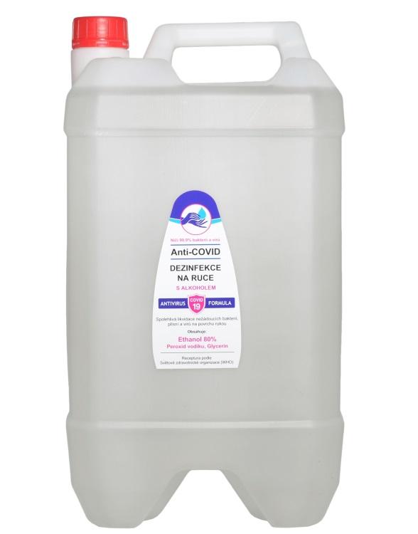 Vivaco Anti-COVID dezinfekce na ruce Ethanol 80% 10 litrů 10 litrů