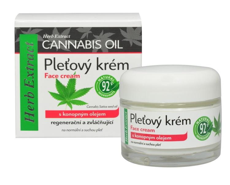 Levně Vivaco Herb extrakt Pleťový krém Cannacare HERB EXTRACT 50 ml