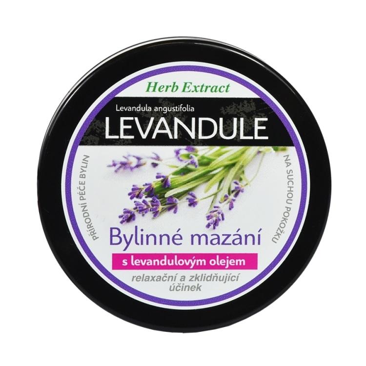 Vivaco Herb extrakt Bylinné mazání s levandulovým olejem HERB EXTRACT 100 ml