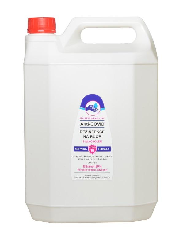 Vivaco Anti-COVID dezinfekce na ruce Ethanol 80% 5 litrů 5 litrů