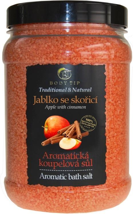 Vivaco Aromatická koupelová sůl Jablko se skořicí BODY TIP 1500g