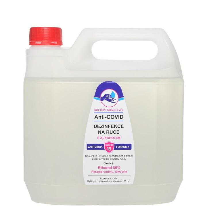 Vivaco Anti-COVID dezinfekce na ruce Ethanol 80% 3 litry 3 litry