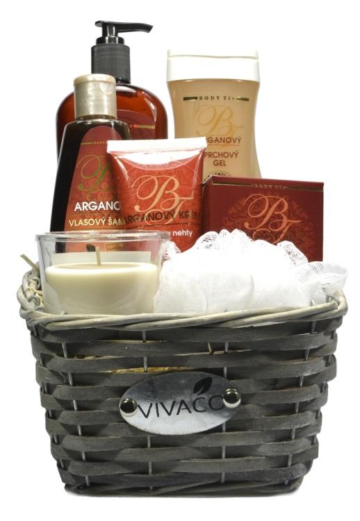 Vivaco Dárkový koš kosmetiky s Bio arganovým olejem Body Tip