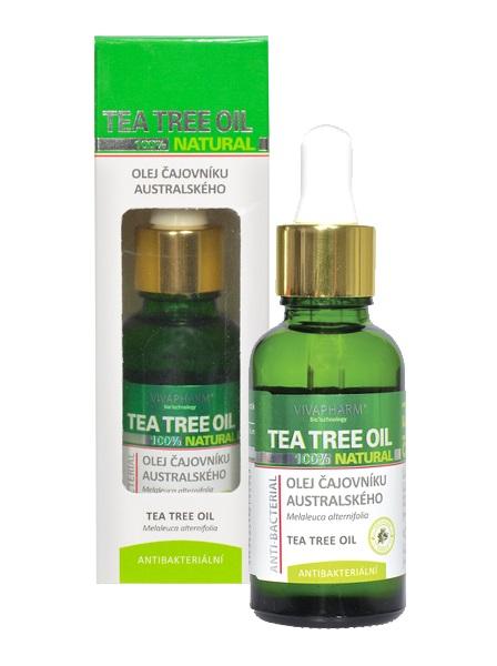 Levně Vivaco 100% Přírodní olej čajovníku australského s pipetou Tea Tree Oil 30 ml