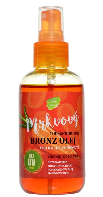 Vivaco 100% Přírodní opalovací z olej s mrkvovým extraktem SPF 0 150 ml