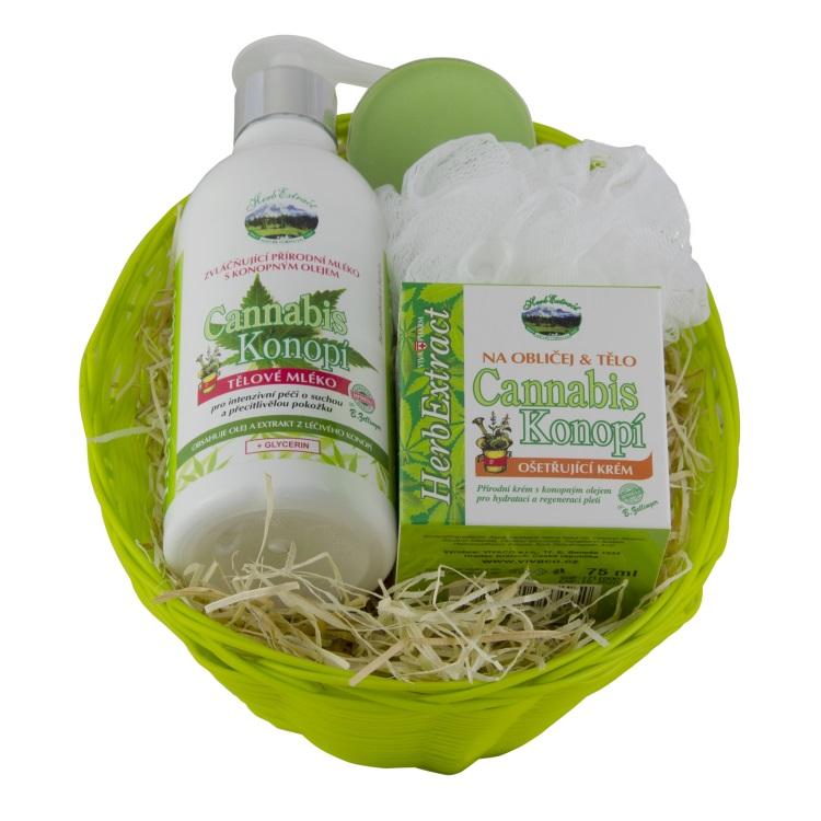 Vivaco Herb extrakt Dárkový košík CannaCare HERB EXTRACT 75ml + 300 ml