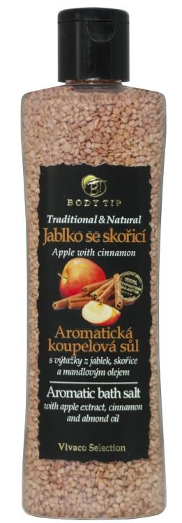 Vivaco Sůl do koupele Jablko se skořicí BODY TIP 220 g