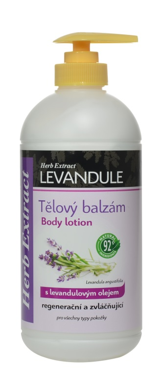 Levně Vivaco Herb extrakt Tělový balzám s levandulovým olejem HERB EXTRACT 500 ml
