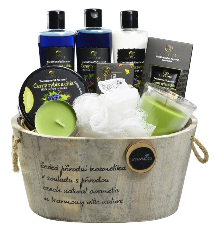 Vivaco Dárkové balení kosmetiky s Černým rybízem a chia Body Tip