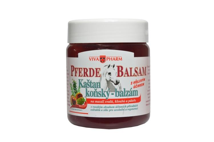 Vivaco VivaPharm Hřejivá bylinná mast s kaštanem koňským PFERDE BALSAM 500 ml