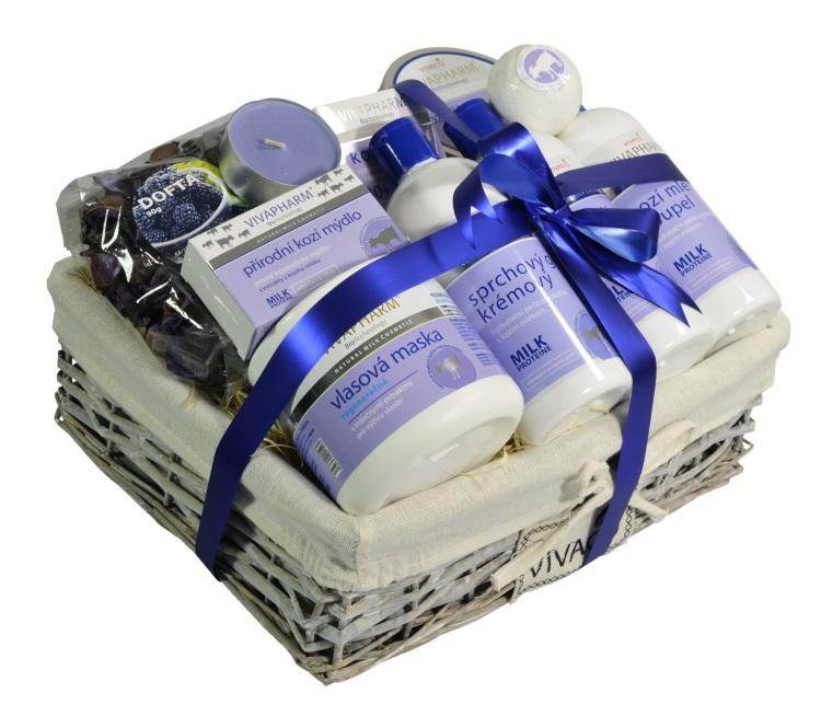 Vivaco Luxusní dárkový koš kosmetiky s kozím mlékem VIVAPHARM
