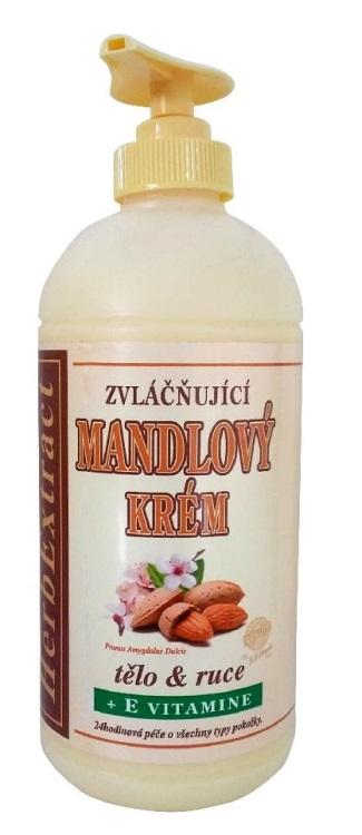 Levně Vivaco Herb extrakt Zvláčňující mandlový krém na tělo a ruce 500 ml