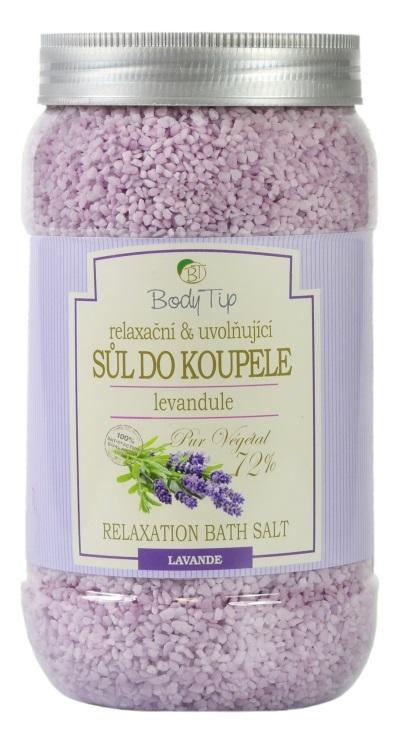 Vivaco Sůl do koupele Levandule BODY TIP 1200 g