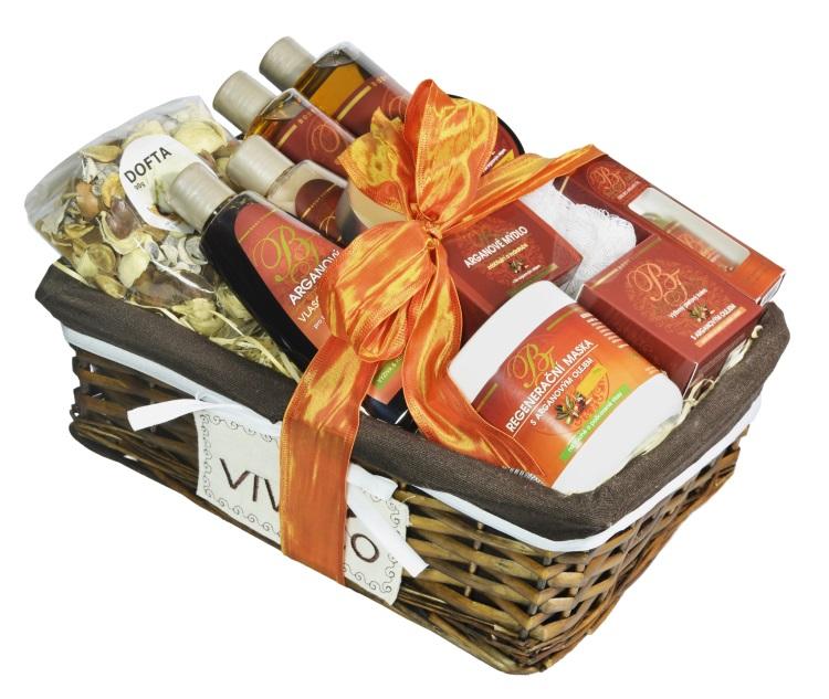 Vivaco Luxusní dárkový koš kosmetiky s Bio arganovým olejem Body Tip