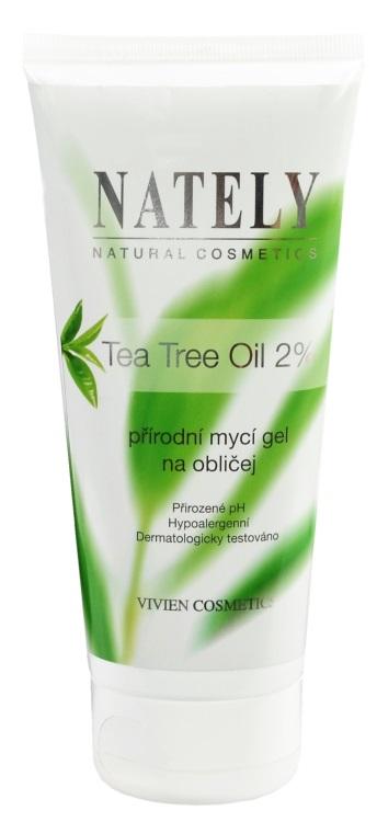 Levně Vivaco Mycí gel na obličej s Tea Tree Oil NATELY 200 ml