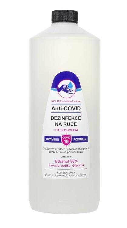 Vivaco Anti-COVID dezinfekce na ruce Ethanol 80% 1 litr 1 litr