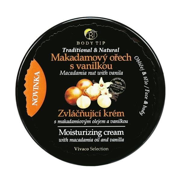 Levně Vivaco Zvláčňující krém Makadamový ořech s vanilkou BODY TIP 200 ml