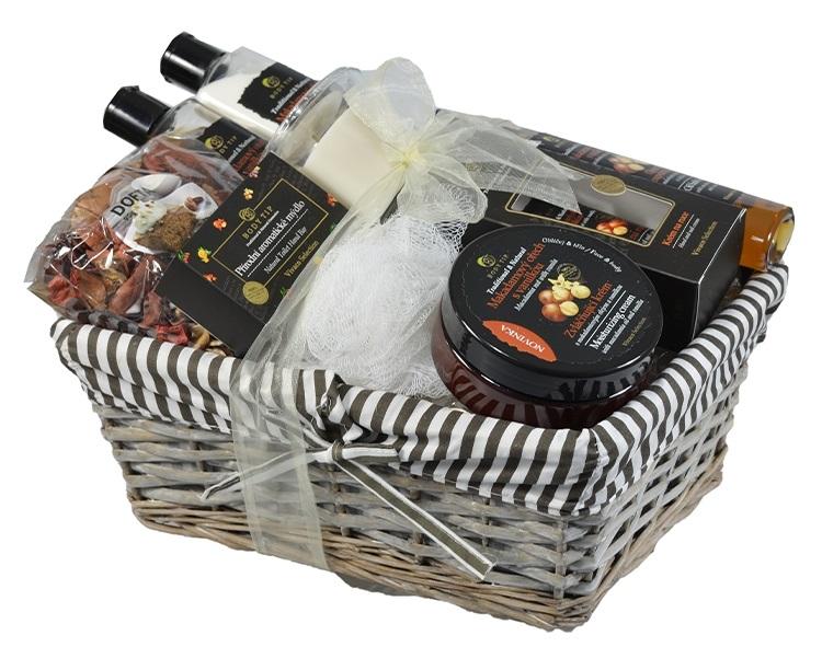 Vivaco Dárkové balení kosmetiky Makadamový ořech s vanilkou BODY TIP