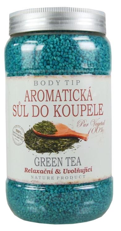 Vivaco Aromatická sůl do koupele Zelený čaj BODY TIP 1200 g