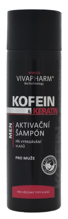 Vivaco Kofeinový šampon s keratinem pro muže VIVAPHARM 200ml