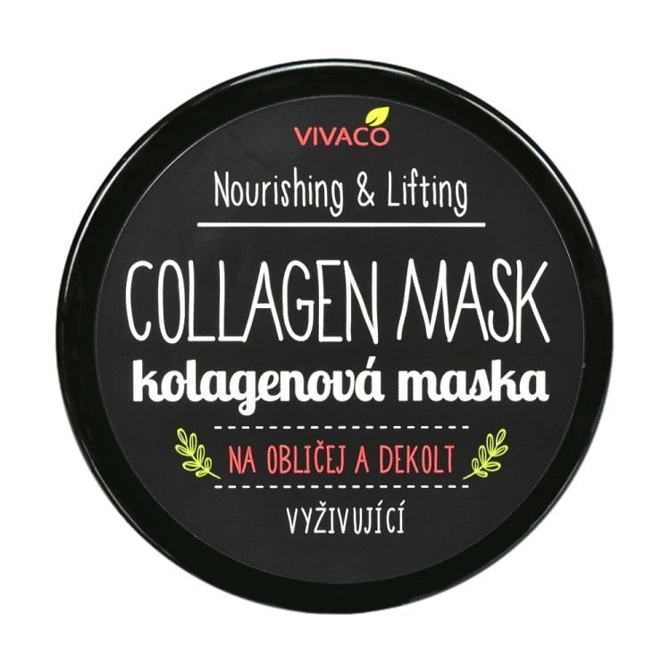 Levně Vivaco Kolagenová maska na obličej a dekolt 100 ml