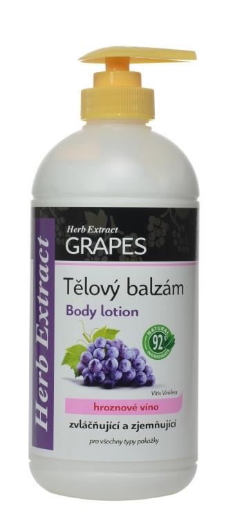 Levně Vivaco Herb extrakt Tělový balzám hrozno HERB EXTRACT 500 ml