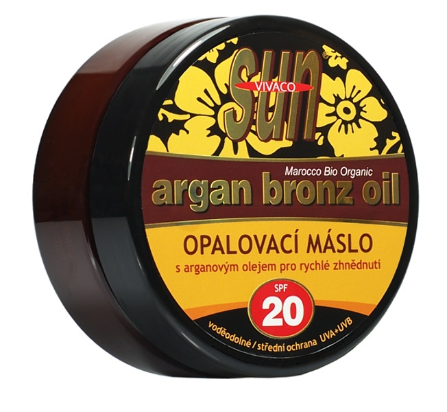 SUN Opalovací máslo s arganovým olejem OF 20
