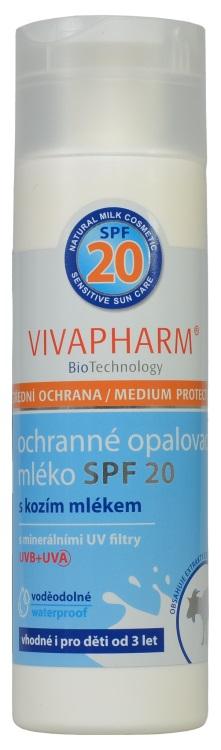 Vivapharm ochranné opalovací mléko SPF 20