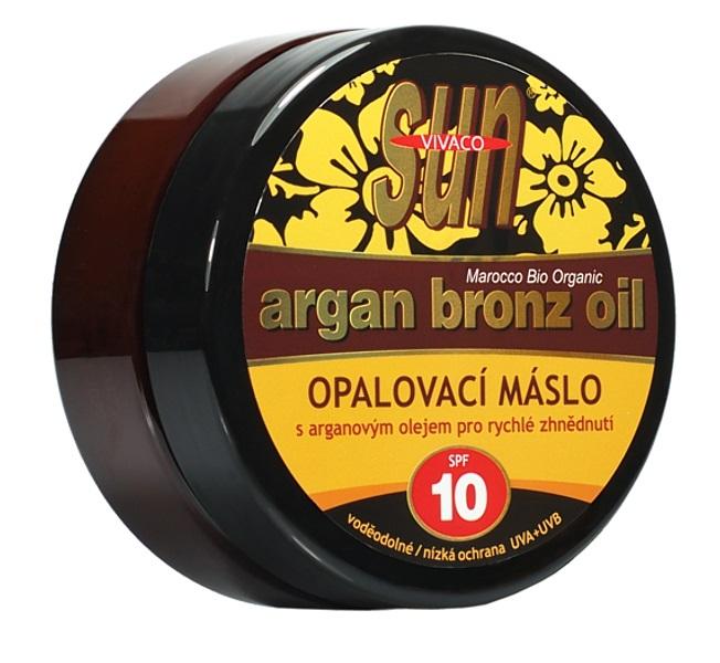 SUN Opalovací máslo s arganovým olejem OF 10