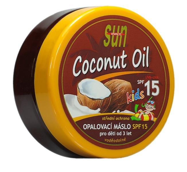 SUN Coconut oil opalovací máslo pro děti OF 15