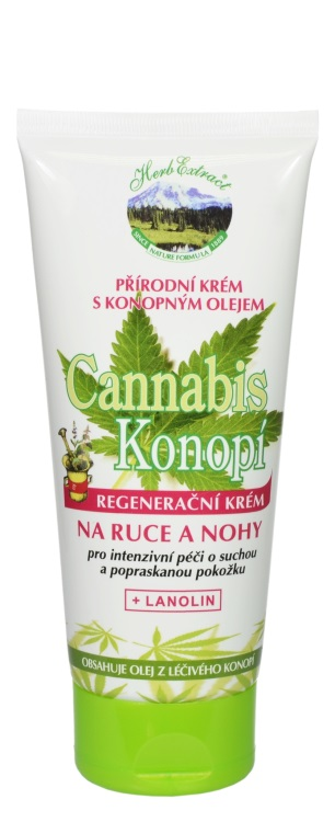 Krém na ruce a nohy Cannabis HERB EXTRACT