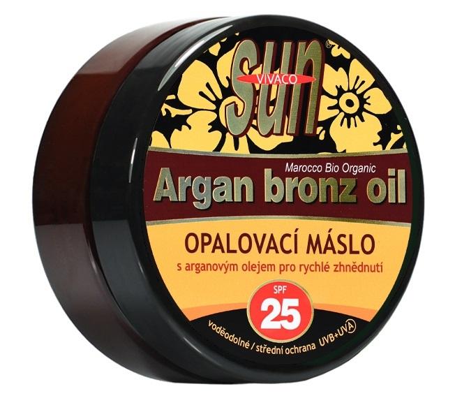 SUN Opalovací máslo s arganovým olejem OF 25