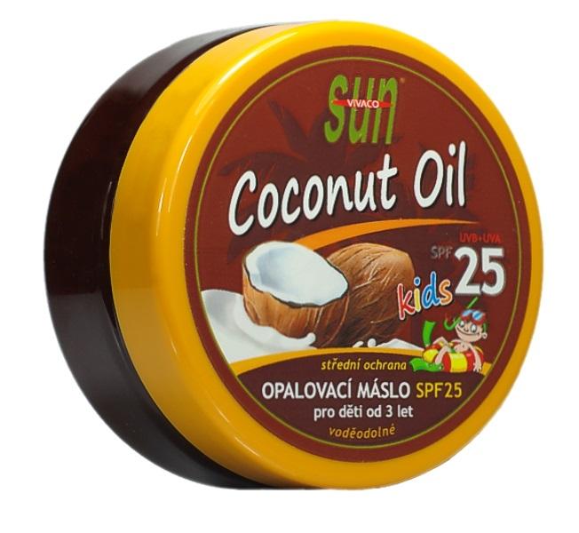 SUN Coconut oil opalovací máslo pro děti OF 25